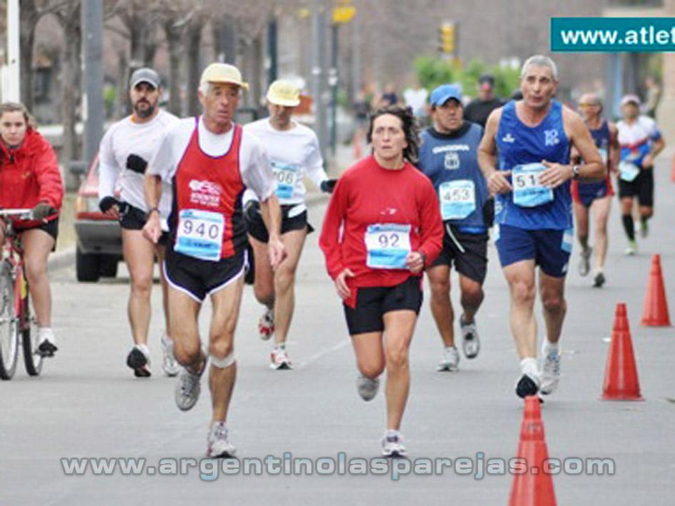 Atletas celestes en Maratón Internacional