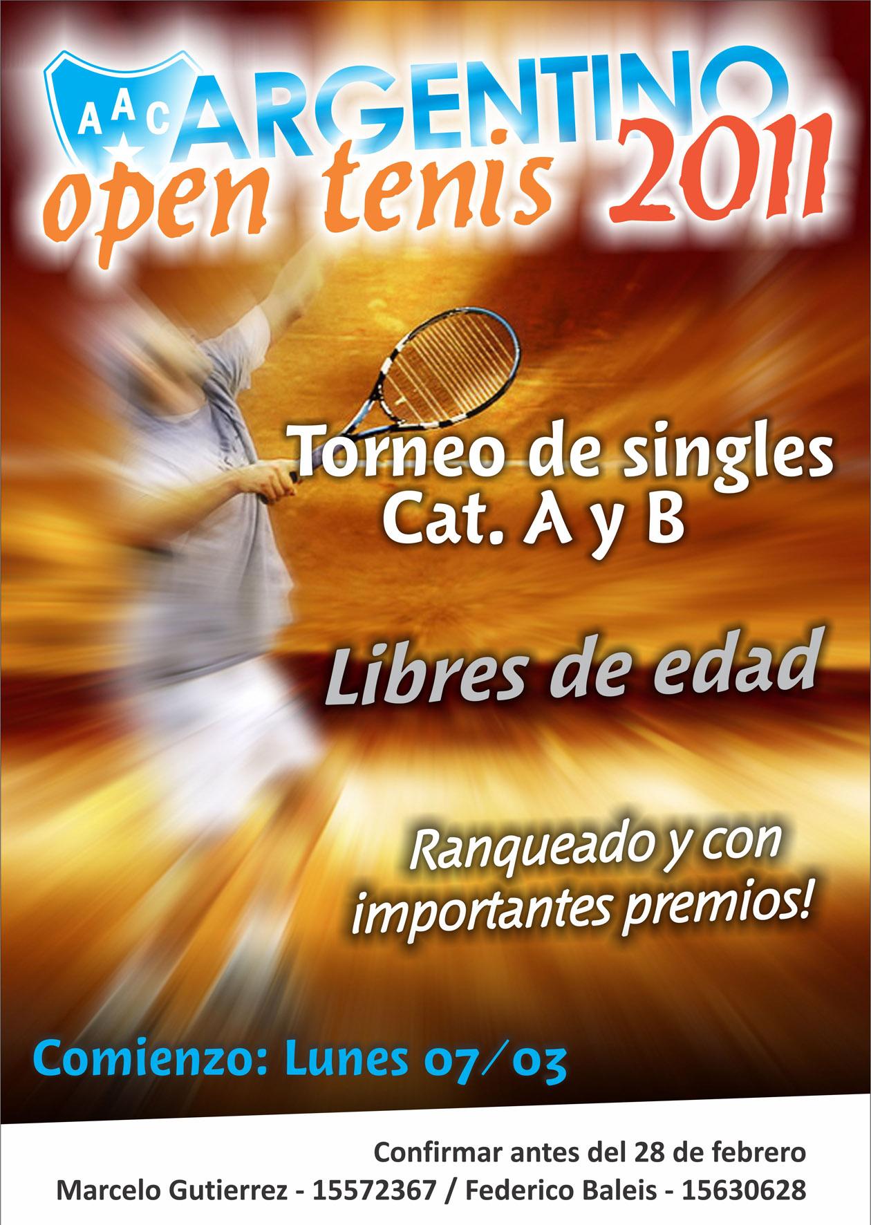 En Marzo, arranca el Open de Tenis
