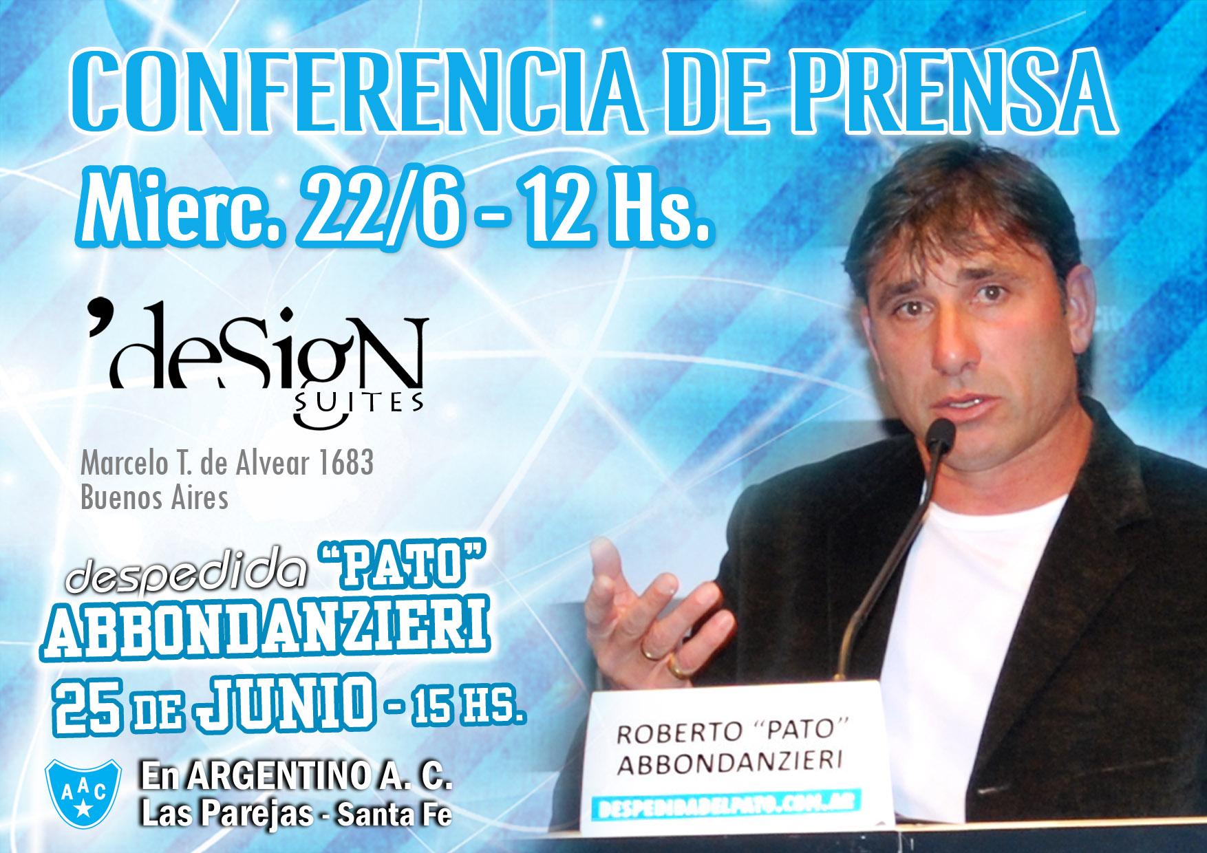 Conferencia de Prensa -22 de Junio en el Hotel Design Suites (Buenos Aires)